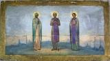 Икона «Св. Мария Магдалина, Павел Фивийский и Преподобный Иоанн Кущник»