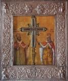Οι ένδοξοι Θεόστεπτοι βασιλείς και ισαπόστολοι Κωνσταντίνος και Ελένη